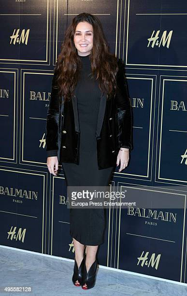 Vicky Martin Berrocal attends Balmain and HM Collection launch party at Neptuno Palace on November 3 2015 in Madrid Spain