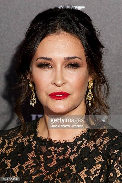 Vicky Martin Berrocal attends 'SPECTRE 007' premiere at Teatro Real on October 28 2015 in Madrid Spain