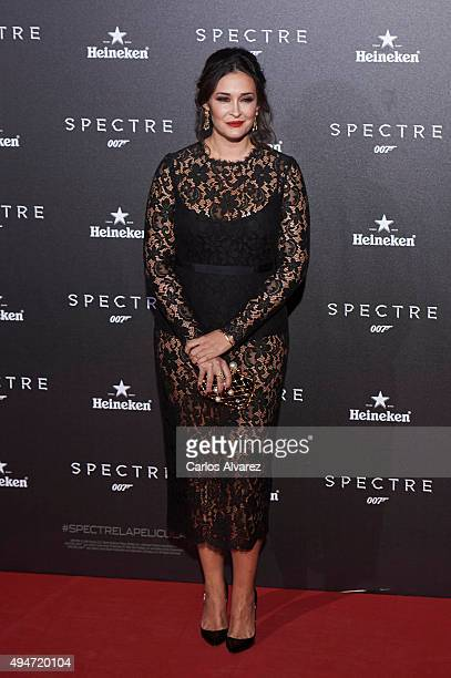 Vicky Martin Berrocal attends the 'Spectre' premiere at the Royal Theater on October 28 2015 in Madrid Spain