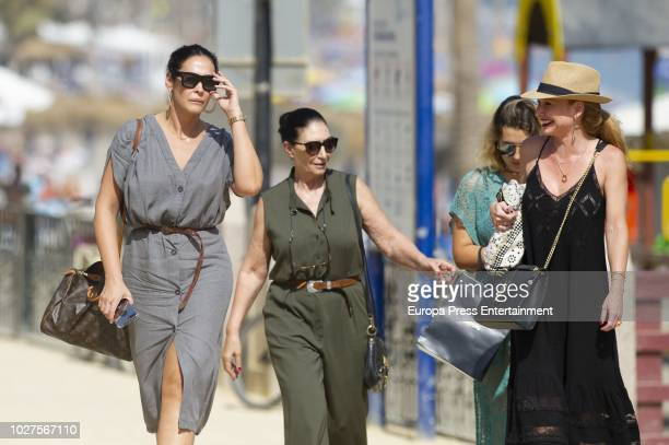 Vicky Martin Berrocal her daughter Alba Diaz and her mother Victoria Martin Serrano are seen on August 3 2018 in Marbella Spain