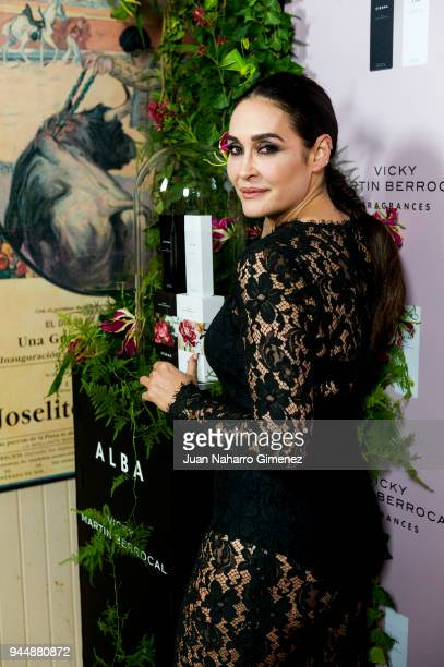Vicky Martin Berrocal presents her new fragrances 'Alba' and 'Eterna' on April 11 2018 in Madrid Spain