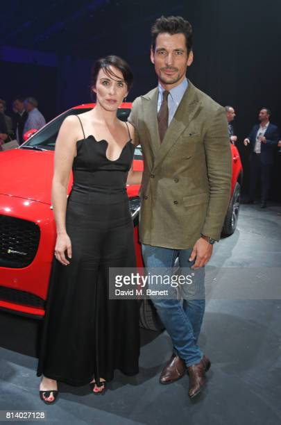 Vicky McClure and David Gandy attend the allnew Jaguar EPace reveal at ExCel on July 13 2017 in London England Jaguar's newest model was launched...