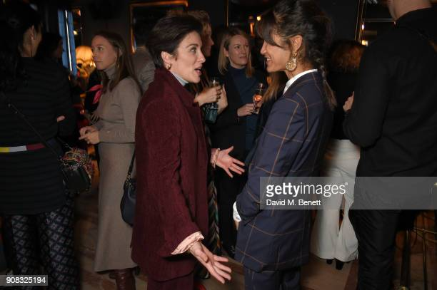 Vicky McClure and Fen O'Meally wearing Paul Smith attend the Paul Smith Malgosia Bela AW18 Lunch on January 21 2018 in Paris France
