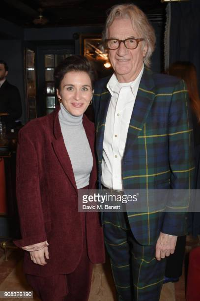 Vicky McClure and Paul Smith attends the Paul Smith Malgosia Bela AW18 Lunch on January 21 2018 in Paris France