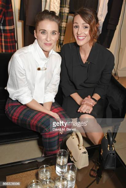 Vicky McClure and Suranne Jones attend the Burberry BAFTA Breakthrough Brits 2017 at the global Burberry flagship on October 25 2017 in London England