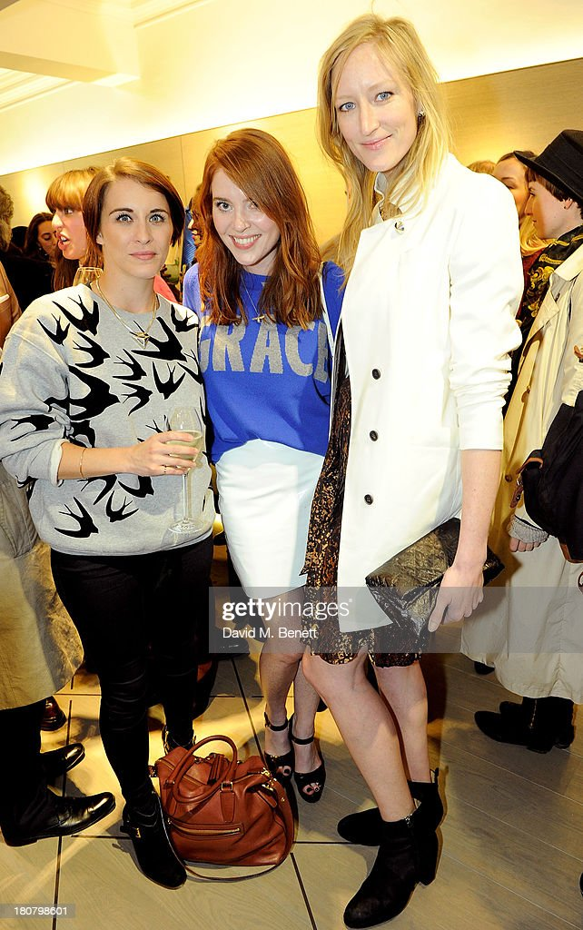 Vicky McClure, Angela Scanlon and Jade Parfitt attend the Pringle of Scotland flagship store launch on September 16, 2013 in London, England.