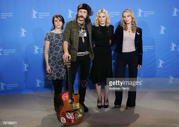 Vicky McClure Eugene Hutz Madonna and Holly Weston attend the Filth and Wisdom photocall as part of the 58th Berlinale Film Festival at the Grand...