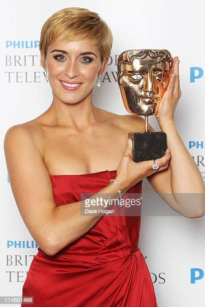 Vicky McClure poses with her Leading Actress Award in front of the winners boards at The Phillips British Academy Awards 2011 at The Grosvenor House...