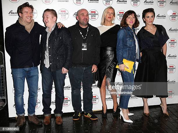Vicky McClure Thomas Turgoose Joe Dempsie Shane Meadows and Jo Hartley of the TV drama 'This is England' arrives for the NME awards at O2 Academy...