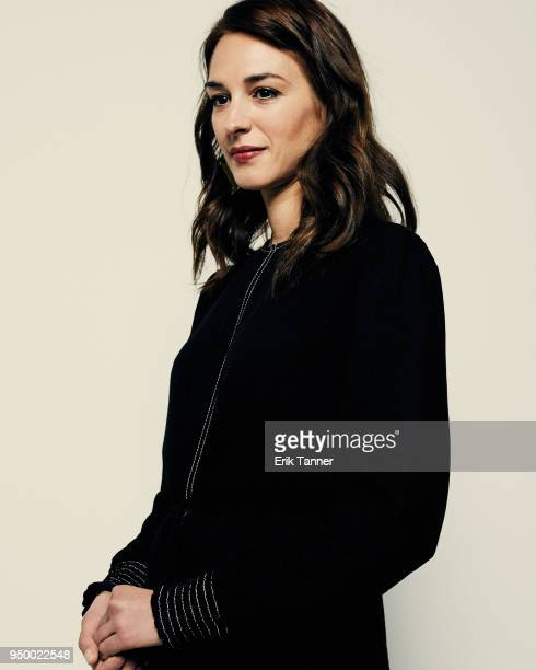 Vicky Papadopoulou of the film Smuggling Hendrix poses for a portrait during the 2018 Tribeca Film Festival at Spring Studio on April 22 2018 in New...
