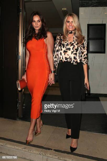 Vicky Pattinson and Danielle Armstrong attend James Ingham's JogOn to Cancer part 5 at Kensington Roof Gardens on April 12 2017 in London England