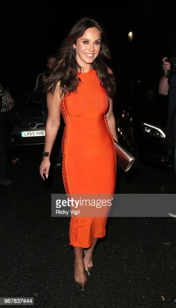 Vicky Pattinson attends James Ingham's JogOn to Cancer part 5 at Kensington Roof Gardens on April 12 2017 in London England