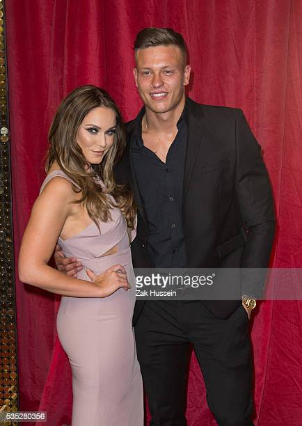 Vicky Pattison and Alex Bowen arrive for British Soap Awards 2016 at Hackney Empire on May 28 2016 in London England