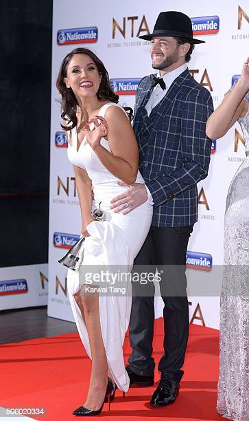 Vicky Pattison and Brian Friedman pose with their award for Best Entertainment Programme 'I'm A CelebrityGet Me Out Of Here' at the 21st National...