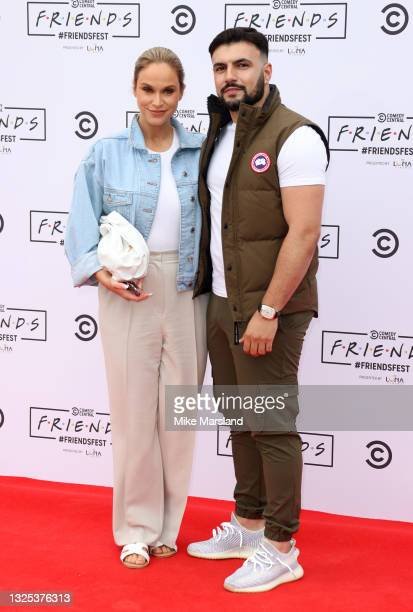 Vicky Pattison and Ercan Ramadan during Comedy Central's FriendsFest: London Photocall at Clapham Common on June 24, 2021 in London, England.