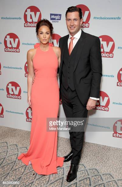 Vicky Pattison and John Noble arrive for the TV Choice Awards at The Dorchester on September 4 2017 in London England
