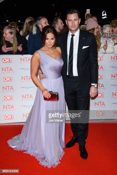 Vicky Pattison and John Noble attend the National Television Awards 2018 at The O2 Arena on January 23 2018 in London England