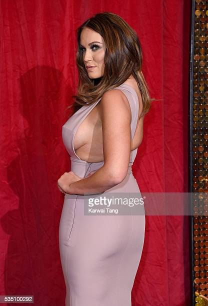Vicky Pattison arrives for the British Soap Awards 2016 at the Hackney Town Hall Assembly Rooms on May 28 2016 in London England