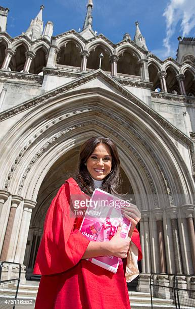 Vicky Pattison attends a photocall to launch MTV's Judge Geordie at the Royal Courts of Justice Strand on May 13 2015 in London England