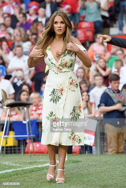 Vicky Pattison attends Soccer Aid 2016 at Old Trafford on June 5 2016 in Manchester United Kingdom