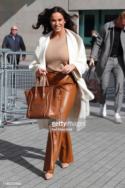 Vicky Pattison is seen at BBC Studios promoting the final of Celebrity Masterchef 2019 on October 10 2019 in London England