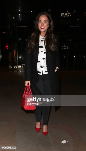 Vicky Pattison on a night out with friends at Madison restaurant at St Pauls on January 17 2018 in London England