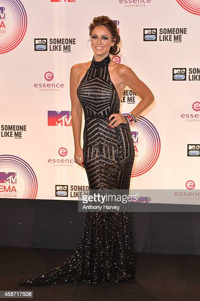 Vicky Pattison poses in the winners room at the MTV EMA's 2014 at The Hydro on November 9 2014 in Glasgow Scotland
