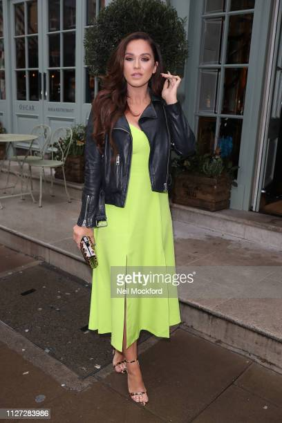 Vicky Pattison seen arriving at the Charlotte St Hotel for the Goddiva new celebrity collaboration press day on February 04 2019 in London England