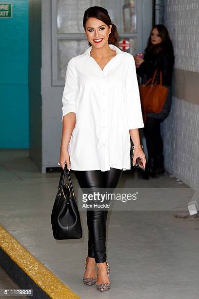Vicky Pattison seen leaving the ITV Studios after an appearance on 'This Morning' on February 18 2016 in London England