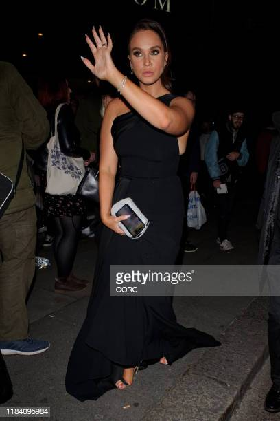Vicky Pattison seen leaving the Pride of Britain Awards at the Grosvenor hotel in Mayfair on October 28 2019 in London England
