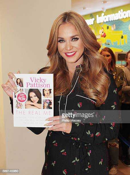 Vicky Pattison signs copies of her book The Real Me Fashion Fitness And Food Tips For Real Women at Easons on August 5 2016 in Dublin Ireland