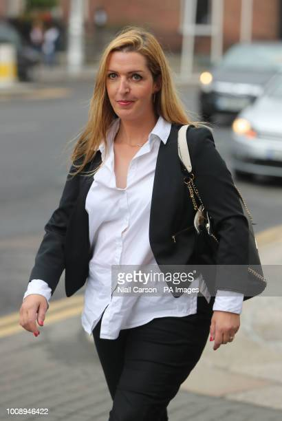 Vicky Phelan the cancer patient whose case triggered the cervical cancer screening controversy arrives at the Department of the Taoiseach in Dublin...