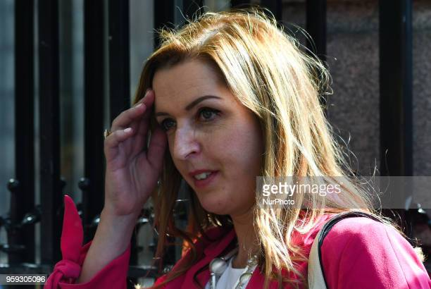 Vicky Phelan, the cancer patient whose case triggered the cervical smear test scandal, arrives to give evidence to the Public Accounts Committee at...