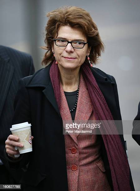 Vicky Pryce arrives at Southwark Crown Court on February 4 2013 in London England Former Cabinet member Chris Huhne and his exwife Vicky Pryce are on...