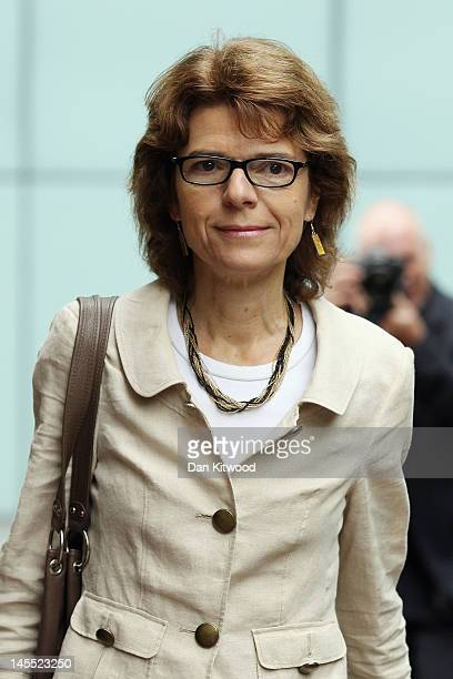 Vicky Pryce exwife of British former cabinet minister and Secretary of State for Energy and Climate Change Chris Huhne arrives at Southwark Crown...