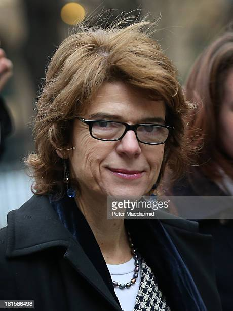 Vicky Pryce exwife of Chris Huhne arrives at Southwark Crown Court on February 12 2013 in London England Former Cabinet member Chris Huhne has...