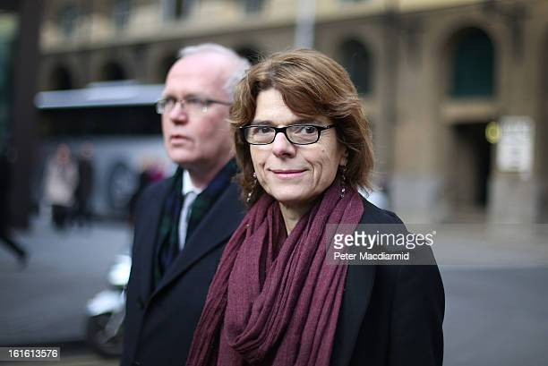 Vicky Pryce exwife of Chris Huhne arrives at Southwark Crown Court on February 13 2013 in London England Former Cabinet member Chris Huhne has...