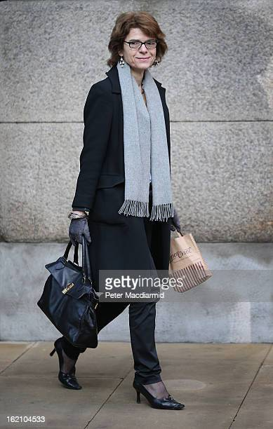 Vicky Pryce exwife of Chris Huhne arrives at Southwark Crown Court on February 19 2013 in London England Former Cabinet member Chris Huhne has...