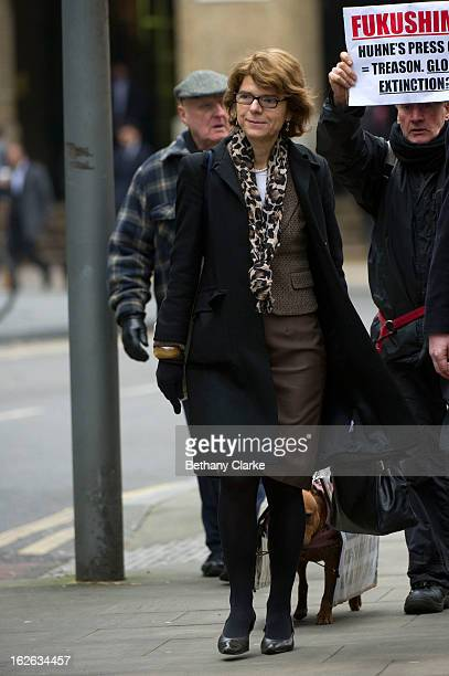 Vicky Pryce exwife of Chris Huhne arrives at Southwark Crown Court on February 25 2013 in London England Former Cabinet member Chris Huhne has...