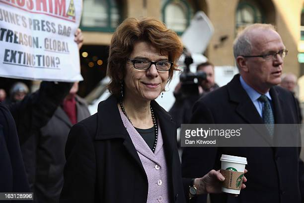 Vicky Pryce exwife of Chris Huhne arrives at Southwark Crown Court on March 5 2013 in London England Former Cabinet member Chris Huhne has pleaded...