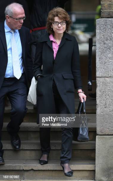 Vicky Pryce exwife of Chris Huhne arrives at Southwark Crown Court on March 6 2013 in London England Former Cabinet member Chris Huhne has pleaded...