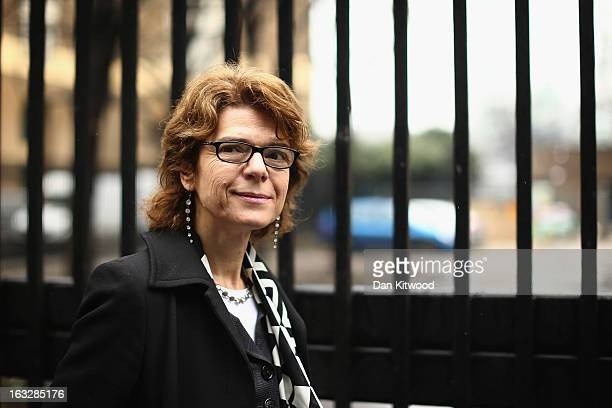 Vicky Pryce exwife of Chris Huhne arrives at Southwark Crown Court on March 7 2013 in London England Former Cabinet member Chris Huhne has pleaded...