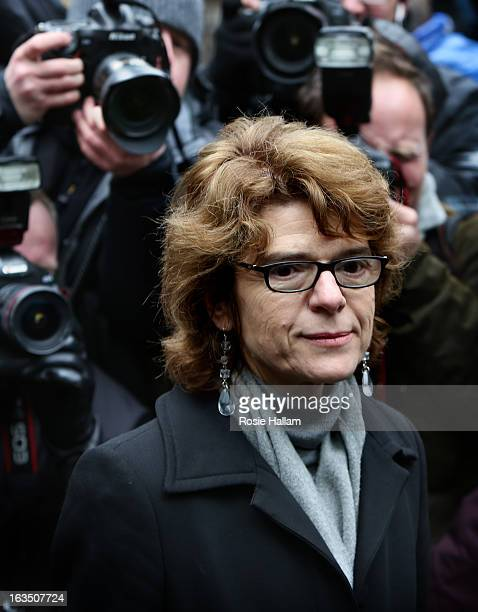 Vicky Pryce exwife of Chris Huhne arrives at Southwark Crown Court to be sentenced on March 11 2013 in London England Former Cabinet member Chris...