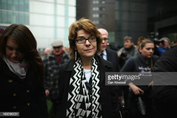 Vicky Pryce exwife of Chris Huhne leaves Southwark Crown Court after being found guilty of perverting the course of justice on March 7 2013 in London...