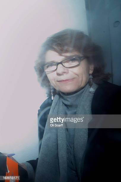 Vicky Pryce exwife of Chris Huhne leaves Southwark Crown Court in a prison van after being sentenced on March 11 2013 in London England Former...