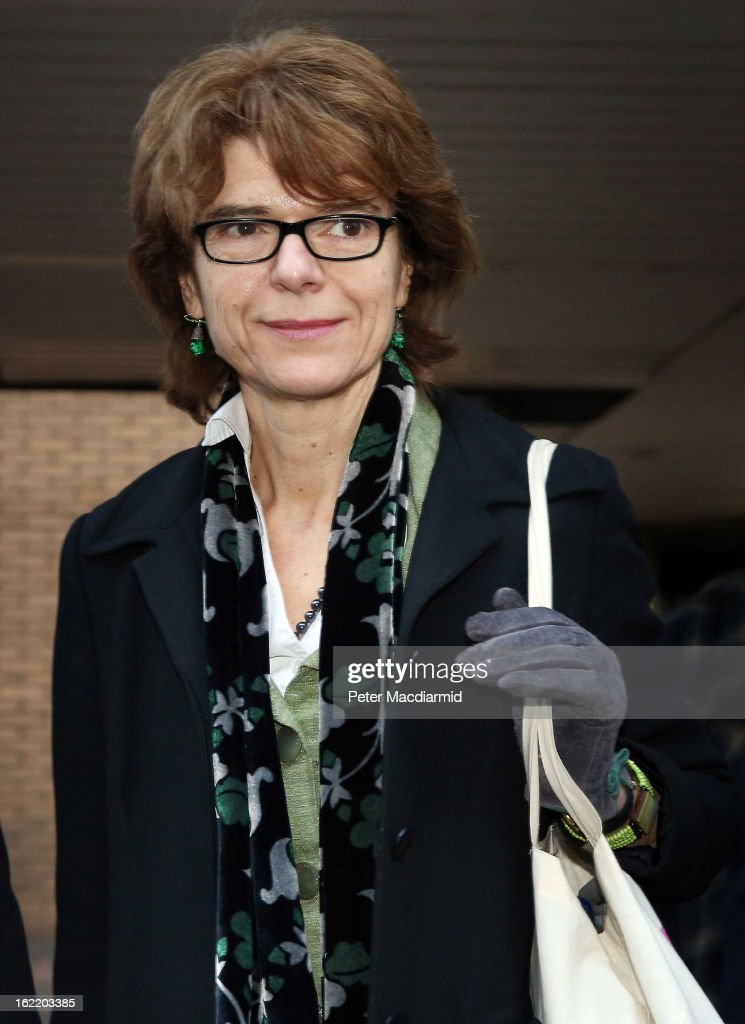 Vicky Pryce, ex-wife of Chris Huhne, leaves Southwark Crown Court on February 20, 2013 in London, England. Former Cabinet member Chris Huhne has pleaded guilty to perverting the course of justice over claims his ex-wife took speeding points for him in 2003. Ms Pryce, 60, faces a re-trial after the jury failed to reach a verdict.