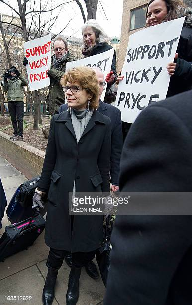 Vicky Pryce exwife of former British Energy Minister Chris Huhne arrives at Southwark Crown Court in London on March 11 2013 Huhne and his exwife...
