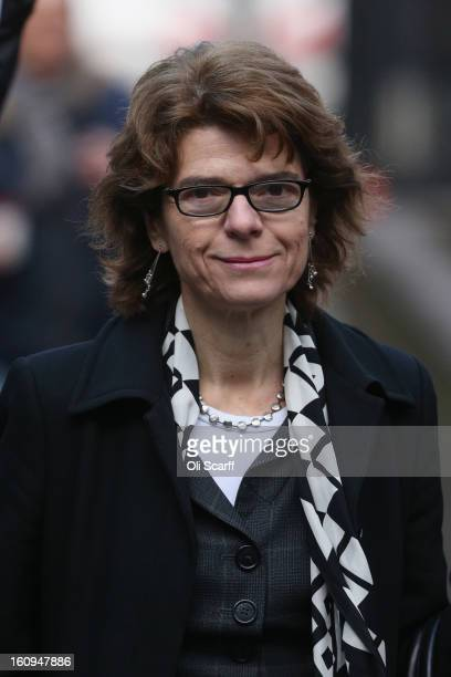 Vicky Pryce the exwife of Chris Huhne arrives at Southwark Crown Court on February 8 2013 in London England Former Cabinet member Chris Huhne has...
