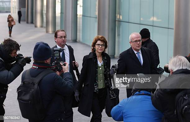 Vicky Pryce the exwife of Chris Huhne leaves Southwark Crown Court on February 5 2013 in London England Yesterday former Cabinet member Chris Huhne...