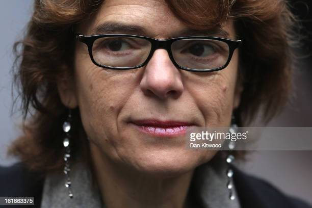 Vicky Pryce the exwife of former cabinet minister Chris Huhne arrives at Southwark Crown Court on February 14 2013 in London England Former Cabinet...